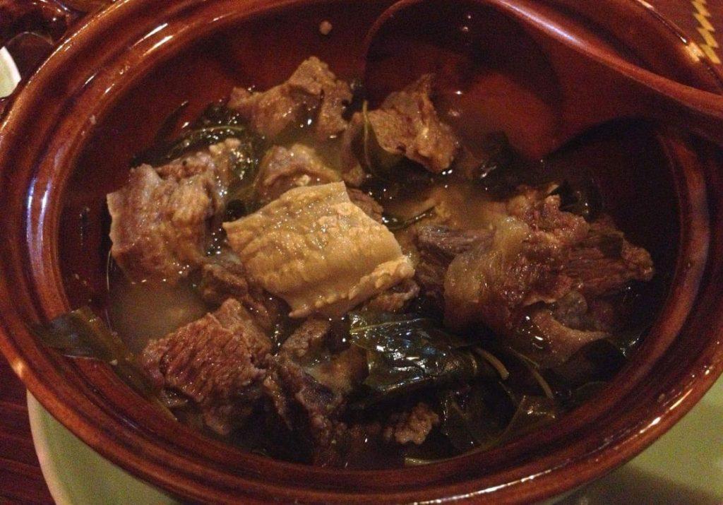 Thịt trâu nấu lá nồm